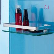 Popa Bathroom shower glass shelf cosmetics shelf single toilet bathroom towel rack