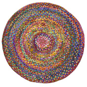 Fair Trade Braided Round Chindi Recycled Cotton Rag Rugs