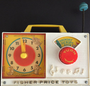 Vintage 1964 Fisher Price Toys Hickory Dickory Dock Musical Wind Up Nursery Rhyme Player & Toy Clock