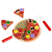 Jspoir Melodiz Pizza Party House Toys Food Simulation Tableware For Children Pretend Play Toys With Tableware
