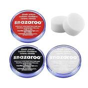18ml Snazaroo Professional Non Toxic Reusable Water Based Halloween Face Paint Set
