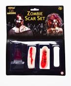 Halloween Zombie Scar Set Latex Blood Flesh FX Makeup Adult Fancy Dress Horror