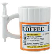 Fairly Odd Novelties Prescription Syringe Coffee Mug, 350ml, White