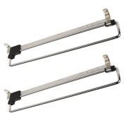 2 x SO-TECH® Coat Hanger Wardrobe Pull Out Clothes Hanger Trousers Pull Out Hanger Rail Telescopic 300 mm