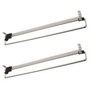 2 x SO-TECH® Coat Hanger Wardrobe Pull Out Clothes Hanger Trousers Pull Out Hanger Rail Telescopic 400 mm