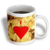 3dRose mug_60648_1 I Love Potato Chips Ceramic Mug, 330ml