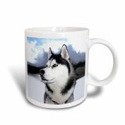 3dRose Siberian Husky Mug, 330ml