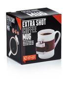 NPW Extra Shot Coffee Mug & Mini Flask Set, White/Brown