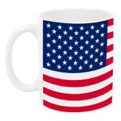 High Tide Mugs American Flag, Patriotic Design, USA, Fourth of July Coffee Mug, Red, White & Blue