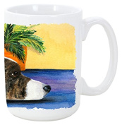 Caroline's Treasures SS8190CM15 Corgi Dishwasher Safe Microwavable Ceramic Coffee Mug, 440ml, Multicolor