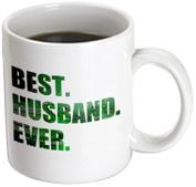 3dRose mug_179728_3 Best Husband Ever Cut Out of Green Computer Chip Microchip Graphic Magic Transforming Mug, 330ml