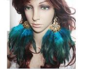 Feather Earrings for Women Peacock Feather Earrings for Women