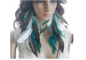 Long Earrings for Women Cheap Chain White Natural Feather Earrings