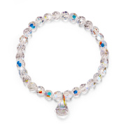 """LadyColour """"Pure Love"""" Stretch Beads Bracelet 17cm For Girls & Women, Made With Crystals"""
