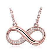 """J.NINA """"Infinite Forever"""" Golden Plated Pendant Bib Necklace Women Jewellery, Made with Crystals"""