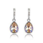 Alvdis One Pair Water Drop Style Crystal Fashion Ear Ring Earring