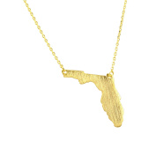 AppleLatte Florida State Necklace, Gold Plated Pendant