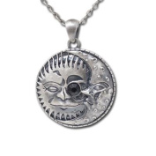 Jewellery Trends Pewter Celestial Sun and Moon Eclipse Pendant on 60cm Chain Necklace