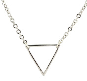AppleLatte Triangle Necklace, Silver Plated Pendant