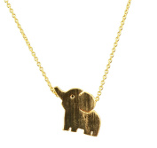 AppleLatte Cute Elephant Necklace, Gold Plated Pendant