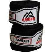 Amber Fight Gear Boxing Stretch Hand Wraps-Black