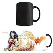 Morphing Mugs DC Comics Justice League (Wonder Woman) Ceramic Mug, Black