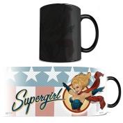 Morphing Mugs DC Comics Justice League (Supergirl Bombshell) Ceramic Mug, Black
