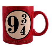 Harry Potter Silver Buffalo HP0934 The Sorcerer's Stone Platform 9 and 3/4 Jumbo Ceramic Mug (In retail packaging) 590ml, Multicolor