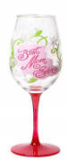 C.R. Gibson Lolita Ultimate Acrylic Glitter Wine Glass, Best Mom Ever, Multicolor