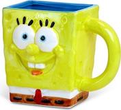Nickelodeon SG0295 Silver Buffalo SpongeBob Square Pants 3D Sculpted Ceramic Mug, 710ml, Yellow