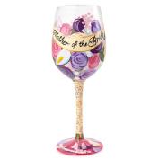 Lolita Glassware from Enesco Mother of The Bride Wine Glass, 23cm , Multicolor