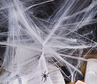 Scary Party Scene Props White Stretchy Cobweb Spider Web