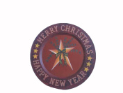 Craft Outlet Bluebird Tin Plate with Star, 32cm , Set of 2