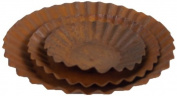 Craft Outlet Rustic Tin Plate, 15cm , 11cm and 8.9cm , Set of 3