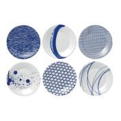 Royal Doulton Pacific Tapas Plates, 16cm , Blue, Set of 6