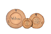 Your Heart's Delight 15cm by 28cm Star/Heart Welcome Wood Plates, Large, Set of 3