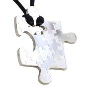 Fantasy Forge Jewellery Women's Stainless Steel Puzzle Piece Pendant Necklace