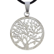 Fantasy Forge Jewellery Women's Stainless Steel Sparkling Tree of Life Pendant Necklace