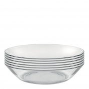 Duralex Made In France Lys 20cm Clear Calotte Plate, Set of 6