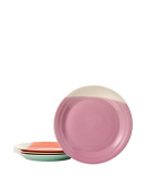 Royal Doulton 1815 Bright Colours Mixed Patterns Dinner Plates (Set of 4), 29cm , Multicolor