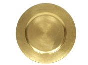 The Jay Companies Round Charger Plate, Gold