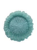 The Jay Companies Reef Glass Charger Plate, Turquoise