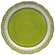Caffco International M.Bagwell Collection Ceramic Charger, Lime Green and Cream