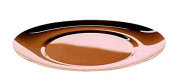 Mepra 25061739B Due Bronzo Oval Charger Plates, 39 x 36 cm, Rose Gold