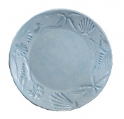 Young's 30392 Ceramic Shell Dinner Plate, 28cm , Blue