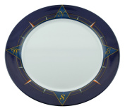 Galleyware Blue Compass Melamine Non-Skid Platters, Set Of 2