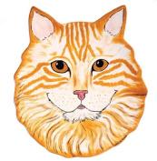 Rescue Me Now Orange Tabby Cat Ear Plate, 29cm