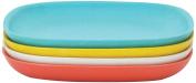 Biobu [by Ekobo] Gusto Plate Set V2, Medium, Persimmon/White/Lagoon/Lemon