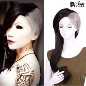 HairPhocas Tokyo Ghoul Uta 2-Tone Dyed Black and Grey Anime Cosplay Wig