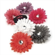 Amberjewellery Flower Hair Clip With Crystal Centre Wedding Party Prom Grey